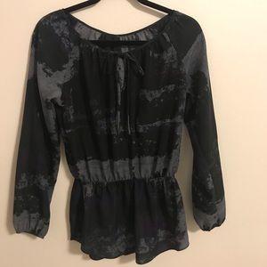 Nordstrom Blouse Black Purple Gray Size S